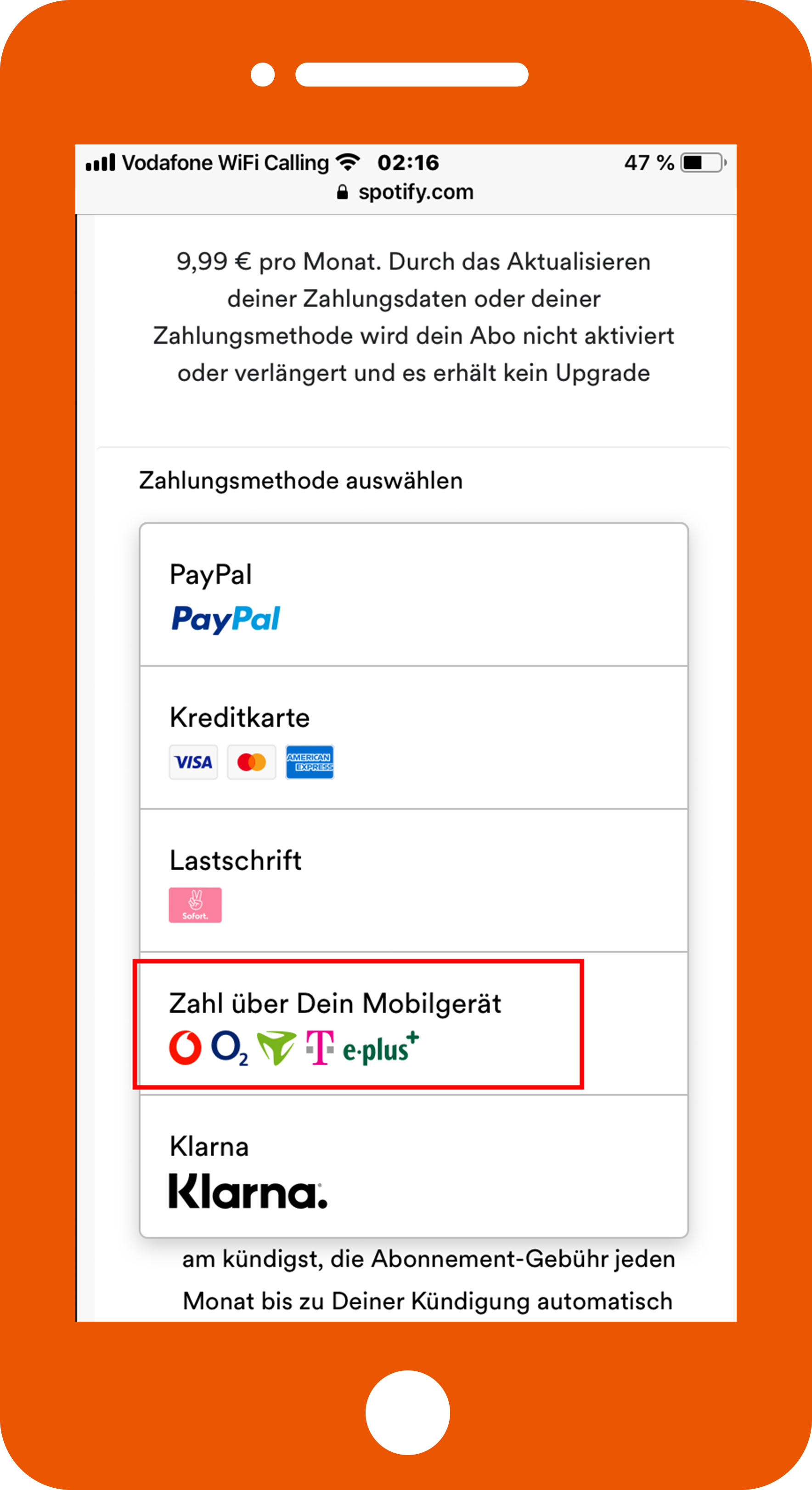 Spotify Per Handy Bezahlen